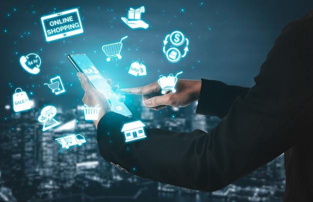 Concetto di acquisto di tecnologia online