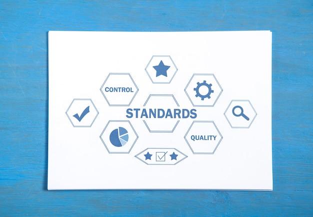 Concetto di standard. controllo di qualità. concetto di affari