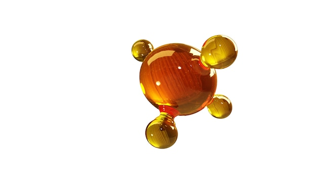 Concetto di struttura modello olio motore o gas