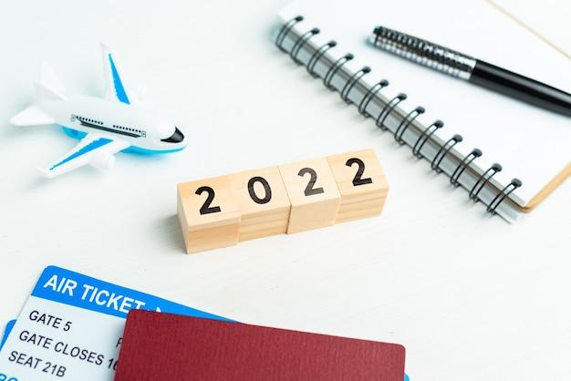 Il concetto di turismo per vacanze e trasporto aereo nell'anno