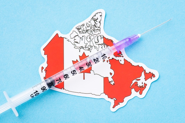 Concetto di vaccinazione in canada