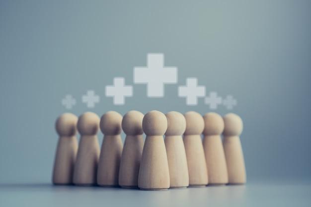 Concetto di personale in legno personale medico