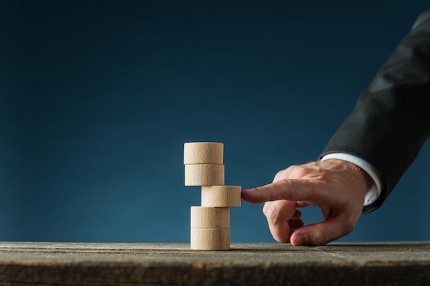 Immagine concettuale di stabilità aziendale
