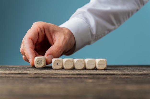 Immagine concettuale di visione aziendale e determinazione