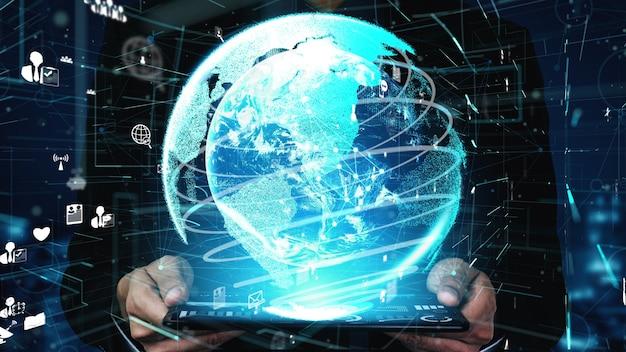 Collegamento e connessione di rete di persone concettuali