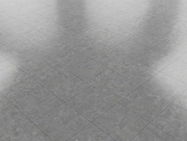 Pavimento in cemento pulito marmo piastrelle di ceramica 3d rendering trama