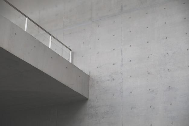 Muro di cemento. elemento del concetto di architettura moderna.