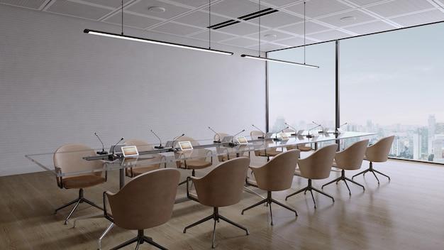 Sala conferenze con vista sulla città