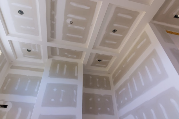 Edilizia casa industria su pareti cartongesso con locale in costruzione