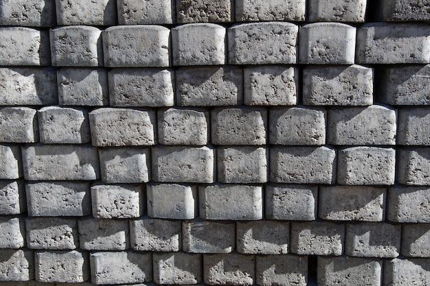 Materiale da costruzione. mattoni per pavimentazione.