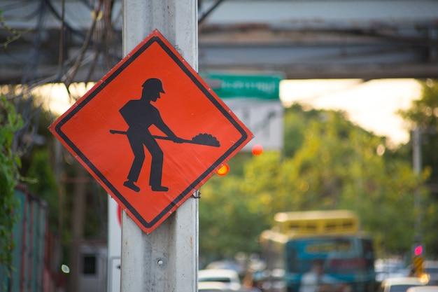 In costruzione firma dentro bangkok tailandia.