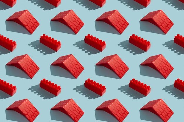 Costruttore blocchi su sfondo blu, modello senza giunture
