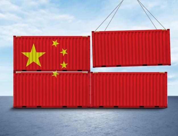 Concetto di logistica del container