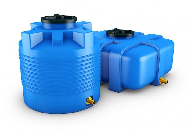 Contenitori per acqua di diverse forme