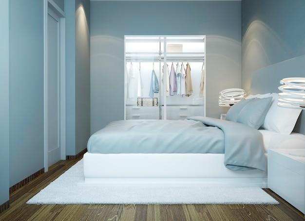 Camera da letto dal design minimalista contemporaneo