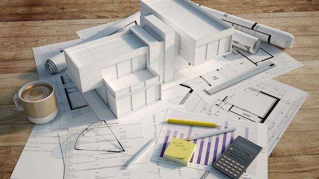 Progetto di architettura della casa contemporanea