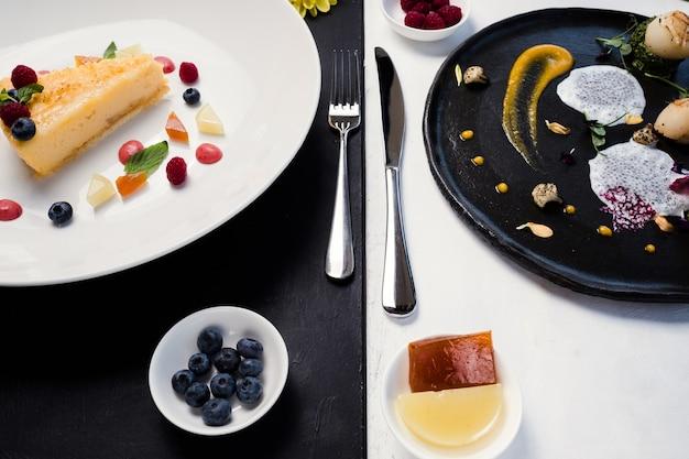 Contrasto pasti al ristorante gourmet
