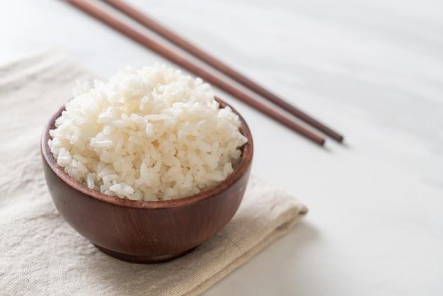 Ciotola di riso bianco cotto