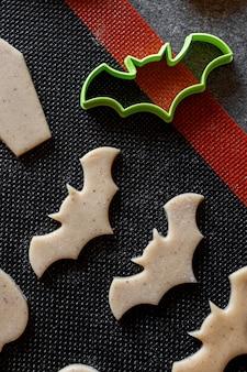 Tappetino da forno per biscotti che taglia la pasta cruda del pan di zenzero