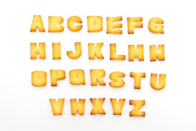 Alfabeto di biscotti
