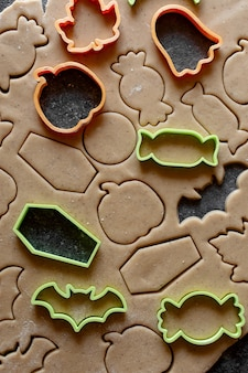Cookie pasta cruda tagliabiscotti halloween zucca candy