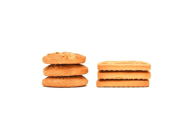 Biscotti su sfondo bianco