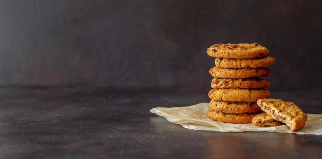 Biscotti al cioccolato. pasticcini. colazione. ricetta.