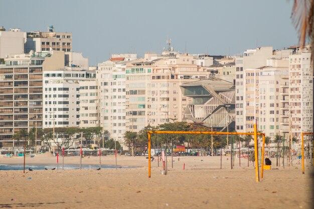 Spiaggia di copacabana a rio de janeiro, brasile.