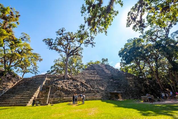 Rovine di copan, honduras â »; dicembre 2019: la piramide astronomica nelle rovine di copan