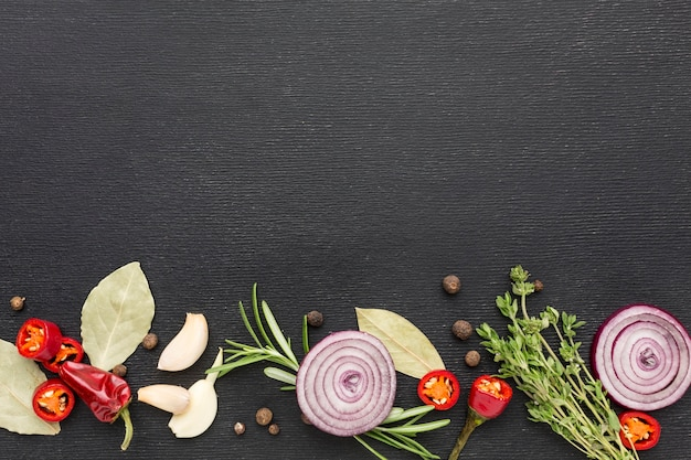Copia-spazio di cottura degli ingredienti