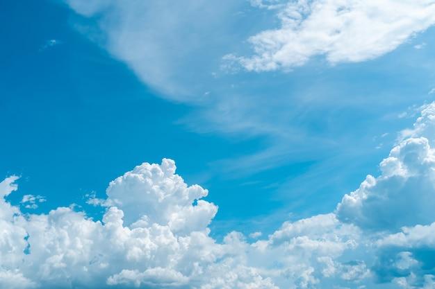 Copia spazio concetto minimo di cielo blu estivo e nuvola bianca astratta sfondo vuoto.