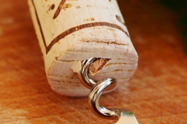 Cavatappi con tappo per vino