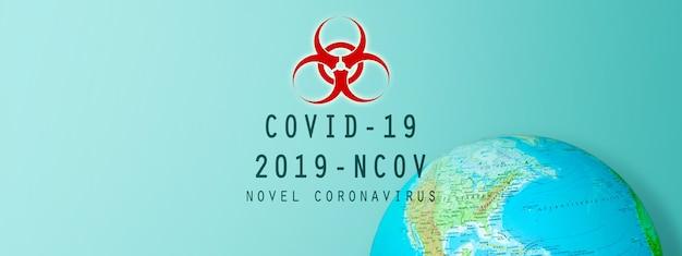 Crisi del virus corona nel mondo. illustrazione 3d