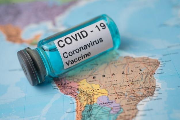 Vaccino contro il coronavirus covid19 sulla mappa del brasile