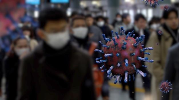 Focolaio di coronavirus che infetta il sistema respiratorio