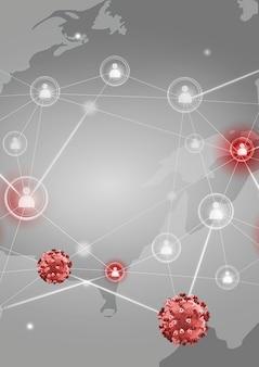 Il coronavirus si sta diffondendo in tutto il mondo sullo sfondo