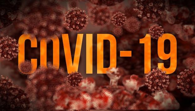 Coronavirus nel mondo. nuovo coronavirus 2019-ncov. concetto di quarantena del coronavirus. epidemia di nuova pandemia di coronavirus covid-19 2019-ncov. rendering 3d.