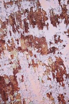 Primo piano della corrosione della struttura del metallo