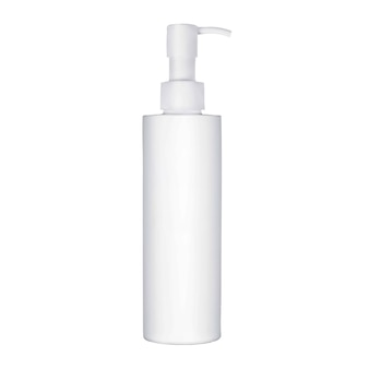 Flacone cosmetico isolato su sfondo bianco