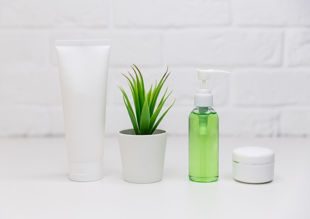 Contenitori per cosmetici, pacchetto di etichette in bianco per il marchio del marchio