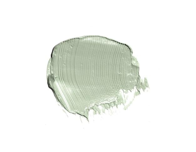 Crema cosmetica isolata su bianco