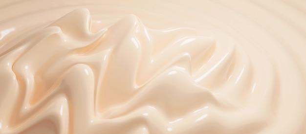 Fondotinta cosmetico in crema 3d render