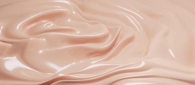 Fondotinta cosmetico crema texture sfondo 3d render