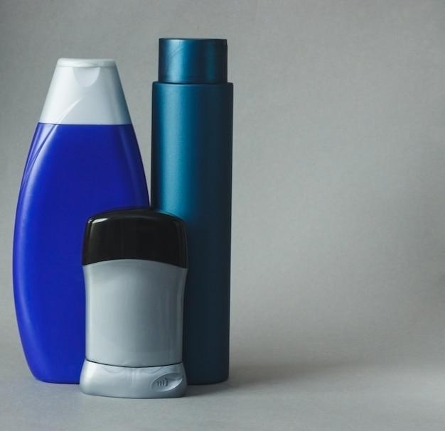 Cosmetico per uomo in bottiglia su grigio