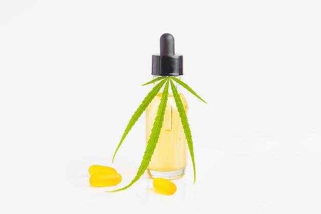 Concetto di olio di cbd per cosmetici