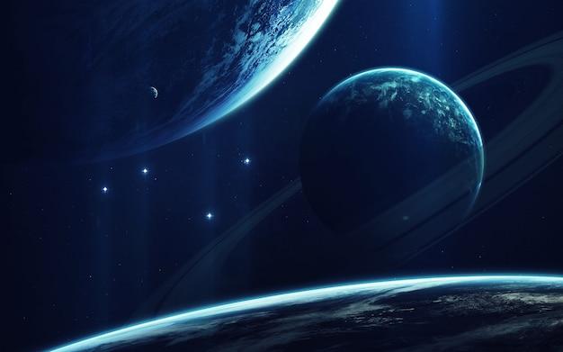 Arte cosmica, carta da parati di fantascienza