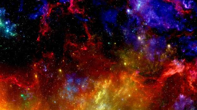 Sfondo cosmico con nebulosa e lo splendore delle stelle