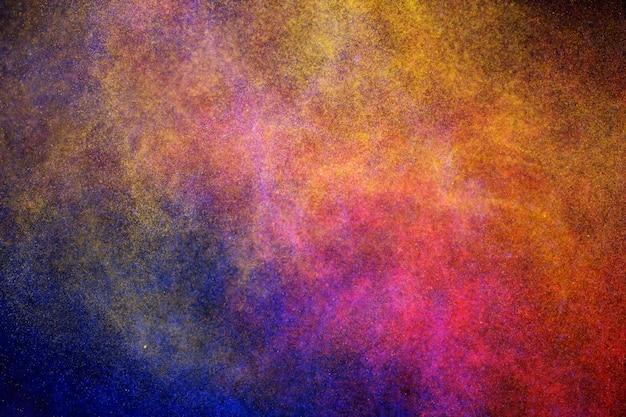 Cosmic polvere colorata sullo sfondo splendente