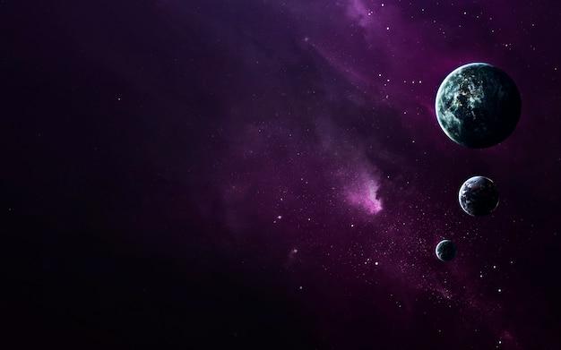 Paesaggio cosmico, bellissimo sfondo di fantascienza con infinito spazio profondo. elementi di questa immagine forniti dalla nasa
