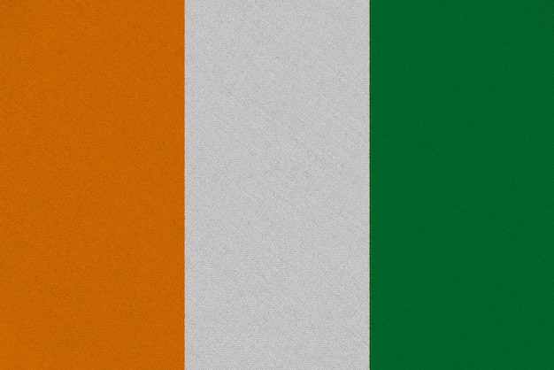 Costa d'avorio - bandiera in tessuto costa d'avorio